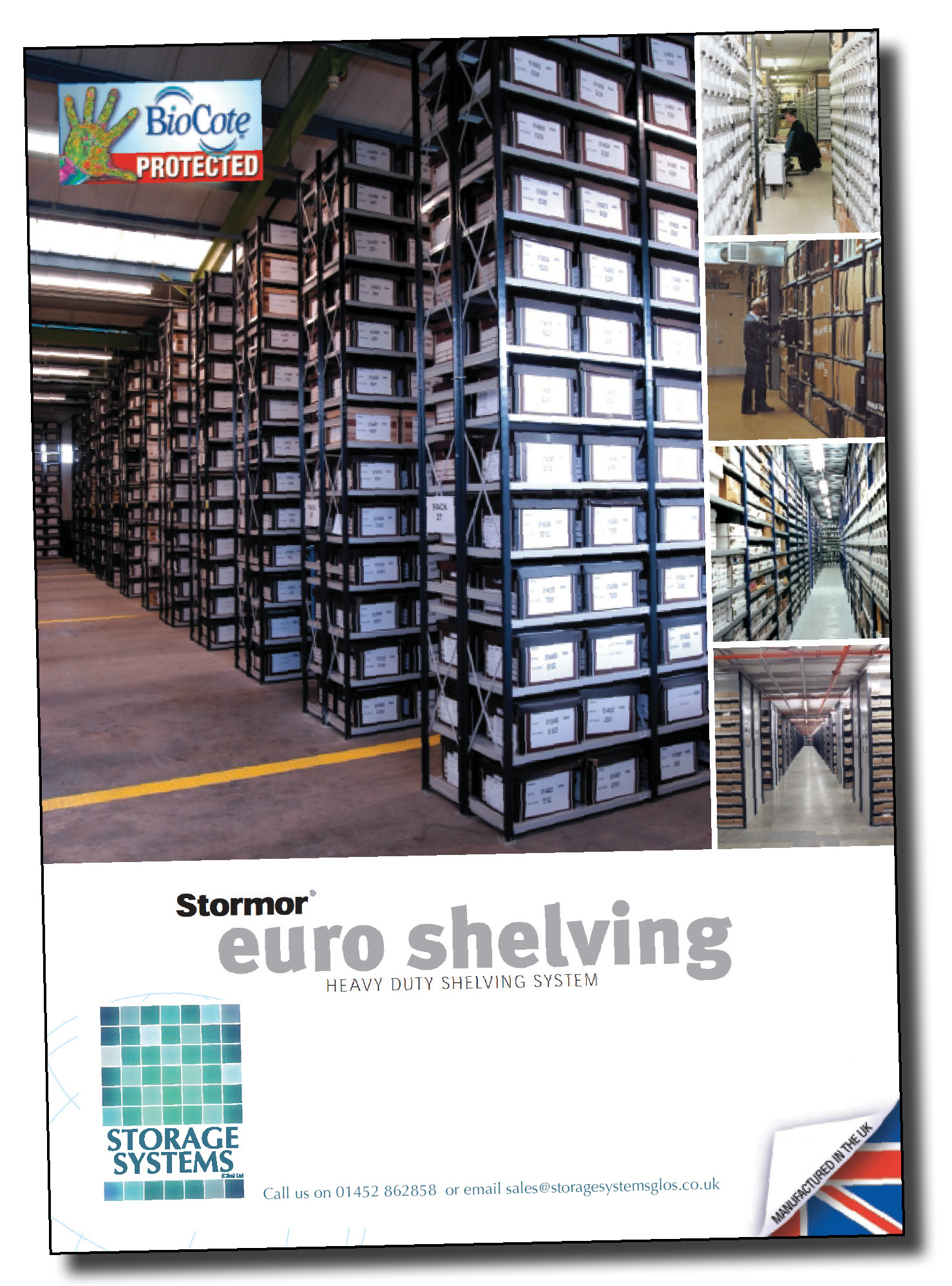 Click to download Gloucestershire supplier Storage Systems' warehouse shelving brochure